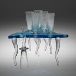 Skleněné stolky, nápojové sety